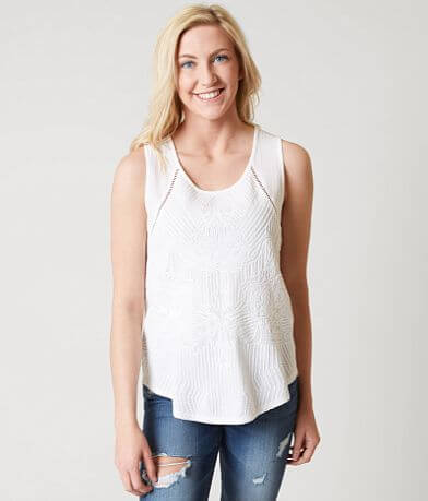 Lucky Brand Embroidered Tank Top