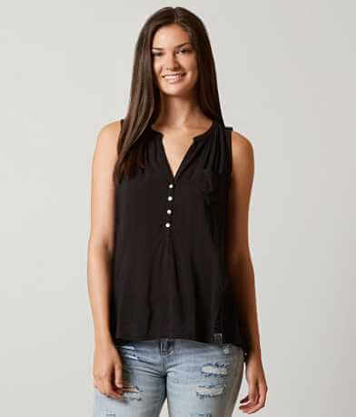 Lucky Brand Pieced Henley Tank Top