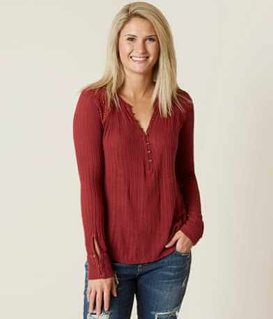Lucky Brand Drop Needle Henley Top