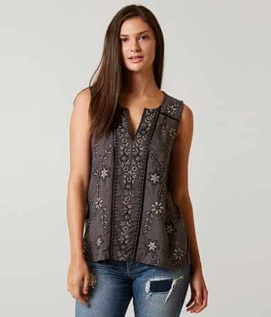 Lucky Brand Beaded Tank Top