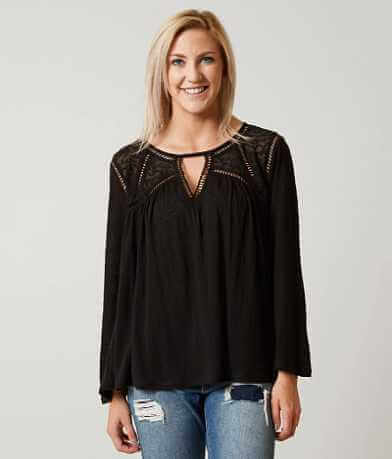 Lucky Brand Flowy Peasant Top