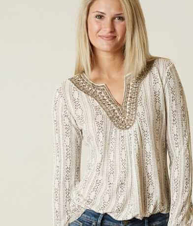Lucky Brand Embroidered Top