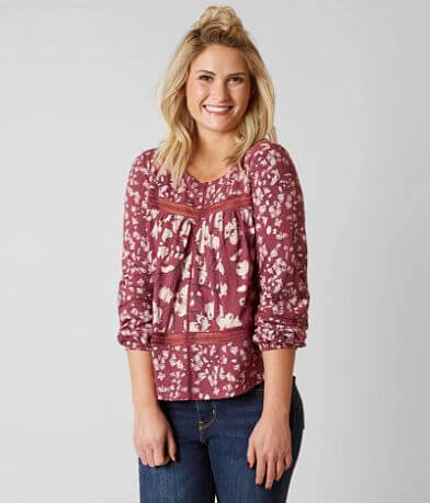 Lucky Brand Blush Printed Top