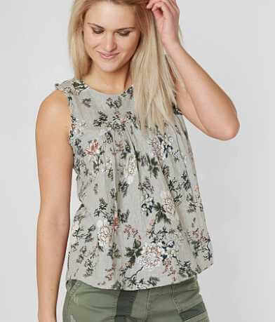 Lucky Brand Floral Jacquard Tank Top