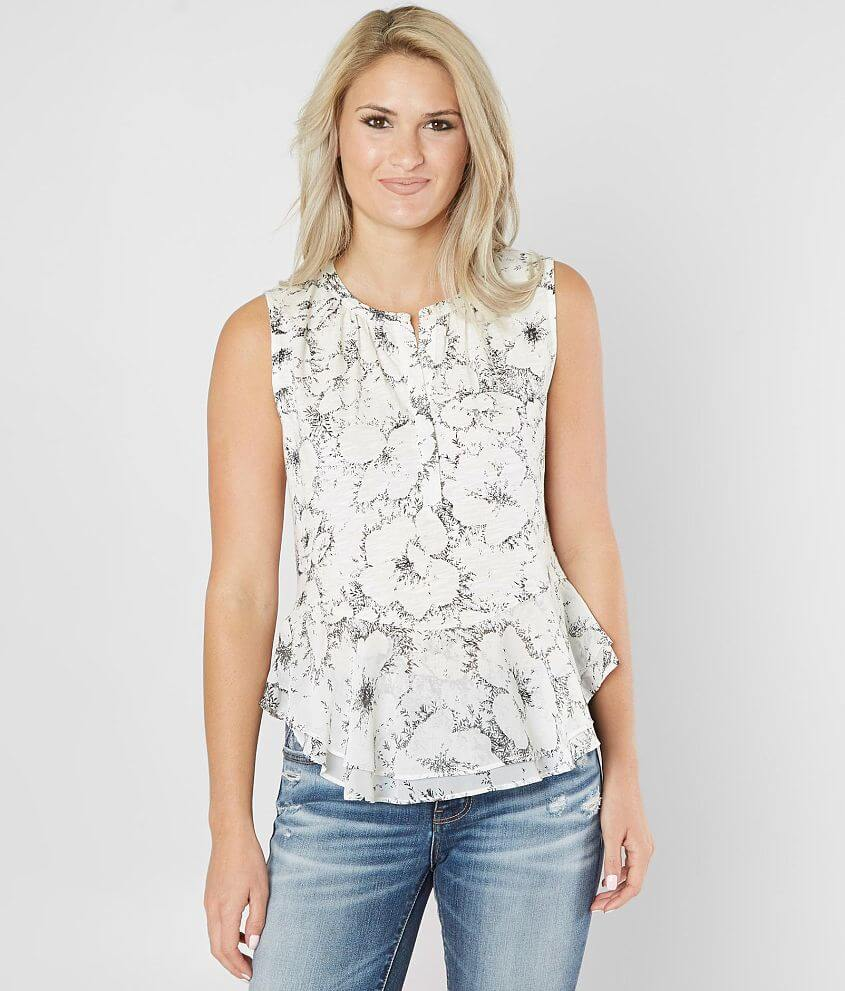 f4cb6c98d55e4 Lucky Brand Floral Peplum Tank Top - Women s Tank Tops in Natural ...