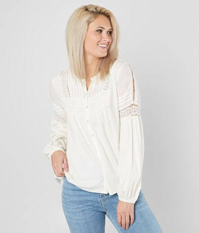 Lucky Brand Pleated Blouse