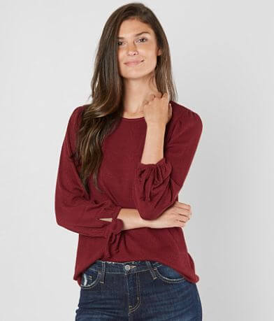Lucky Brand Open Weave Top