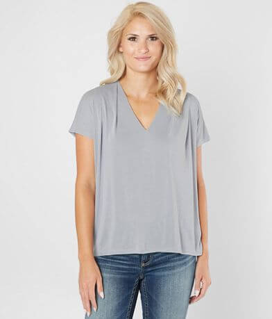 Lucky Brand Pleated V-Neck Top