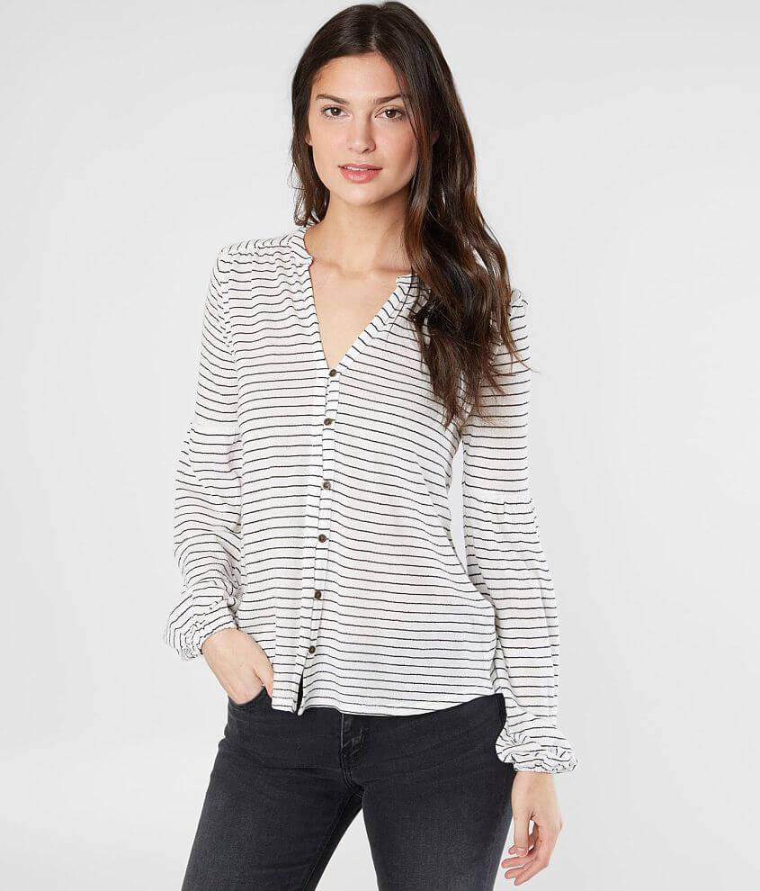 Lucky Brand Striped Top front view