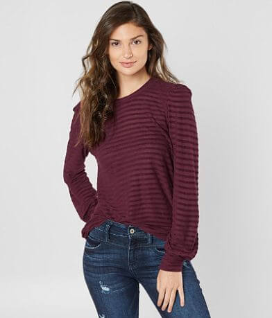 1cec29ee0f2 Lucky Brand Striped Chenille Top