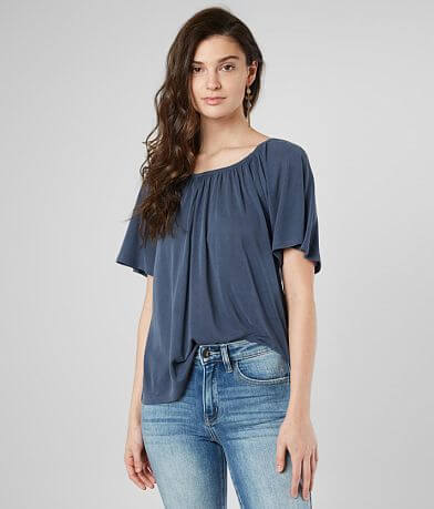 dacb2d84952e1 Lucky Brand Flowy Ruched Top
