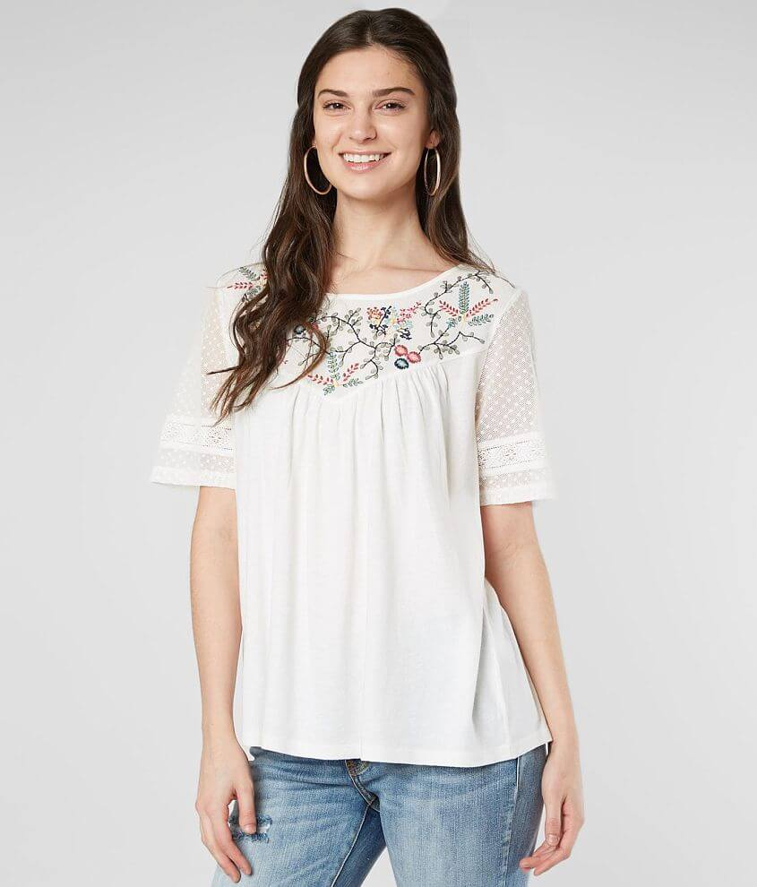 50bd771af9cb Lucky Brand Floral Embroidered Top - Women s Shirts Blouses in Lucky ...