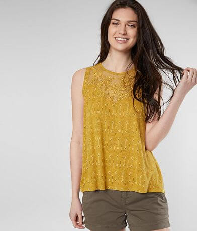 Lucky Brand Floral Embroidered Tank Top