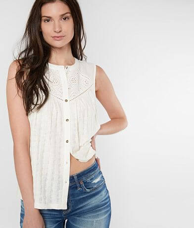 Lucky Brand Open Stitch Tank Top