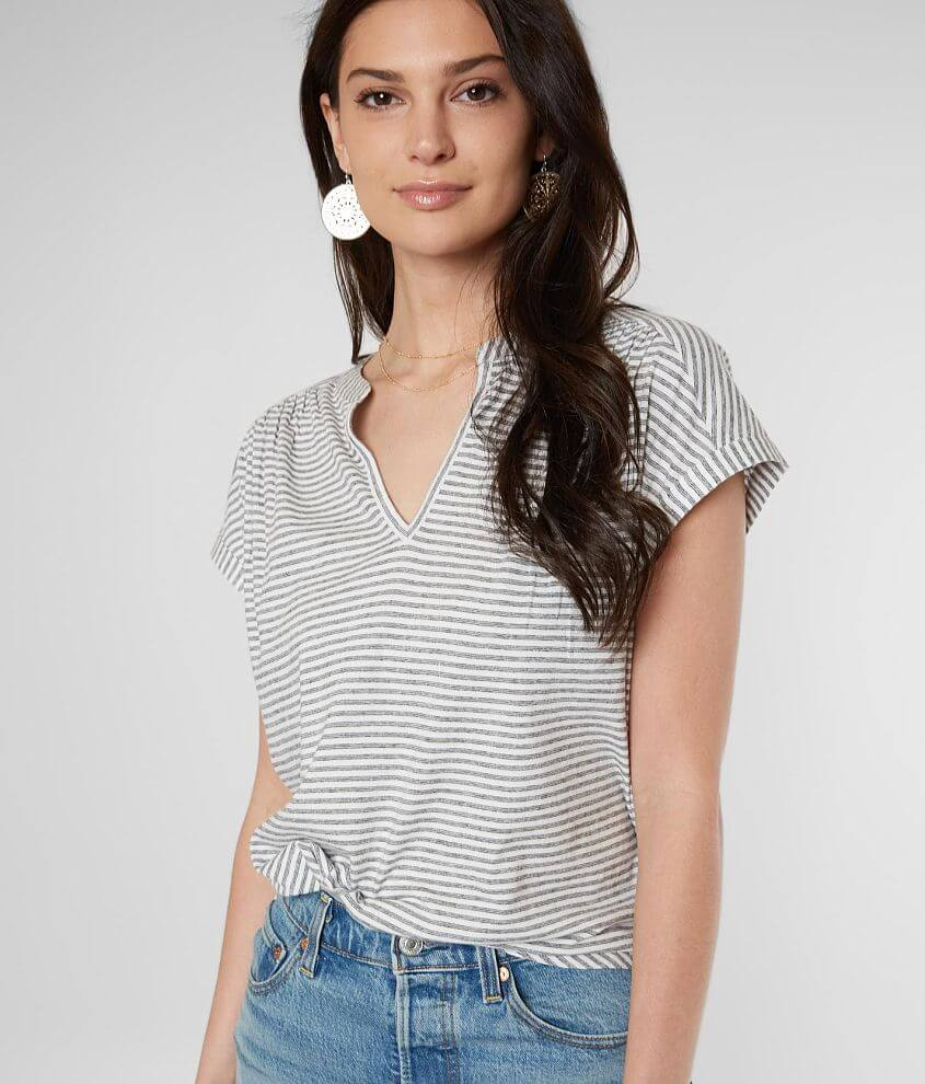 Lucky Brand Striped Knit Top front view