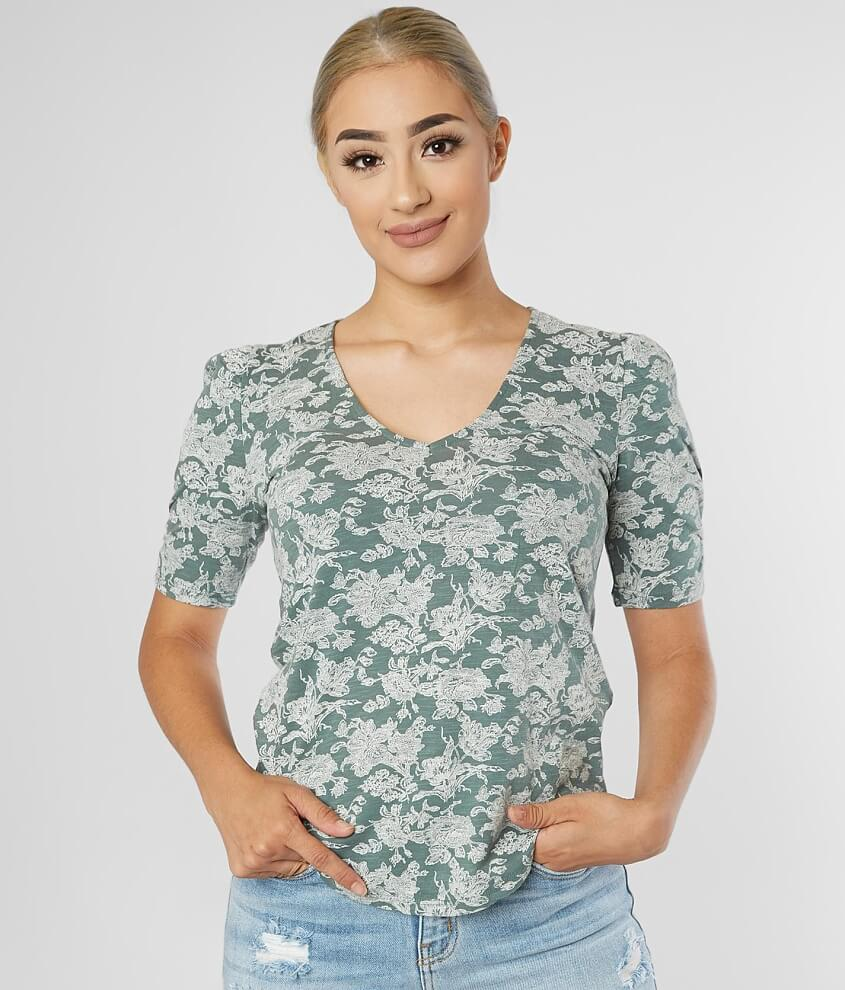 Lucky Brand Floral Print Top front view