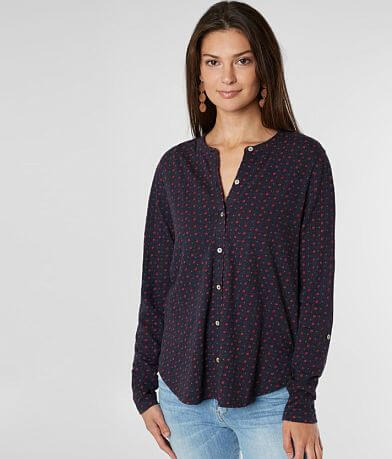 Lucky Brand Floral Polka Dot Shirt