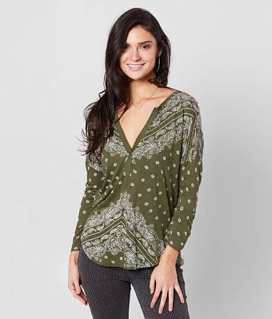 Lucky Brand Paisley Printed Top