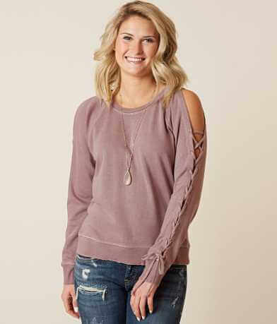 Lucky Brand Lace-Up Sweatshirt