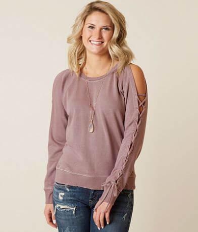 Lucky Brand Lace-Up Sweatshirt