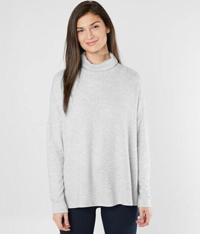 Lucky Brand Fleece Turtleneck Top