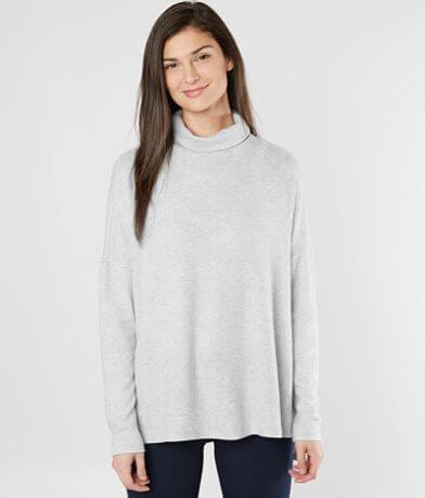 Lucky Brand Fleece Turtleneck Top