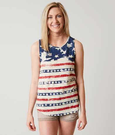 Lucky Brand Flag Tank Top