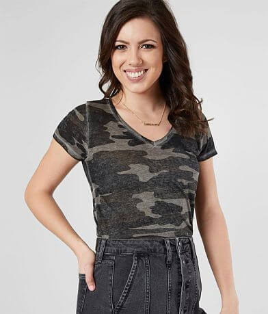 Lucky Brand Burnout Camo T-Shirt