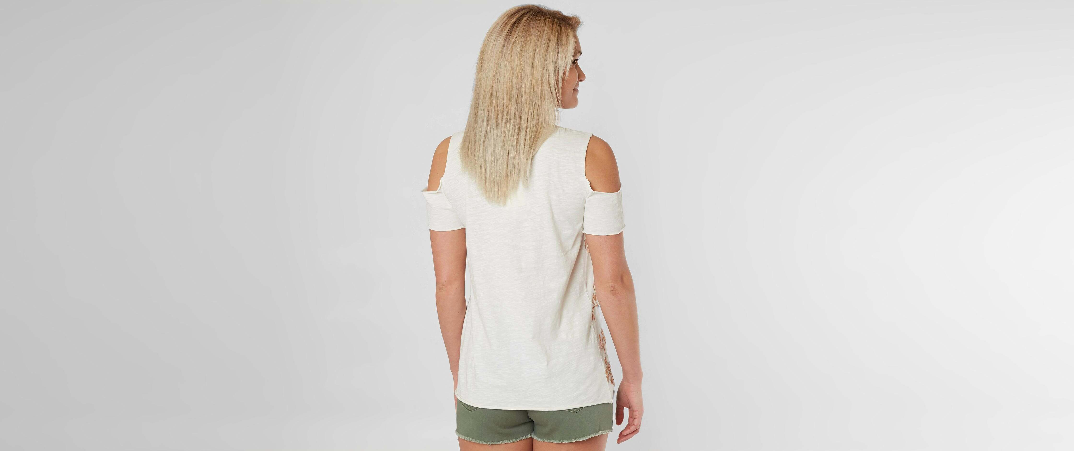 ddc37f930b2e Lucky Brand Floral Embroidered Top  6XuXh0100700  -  31.99