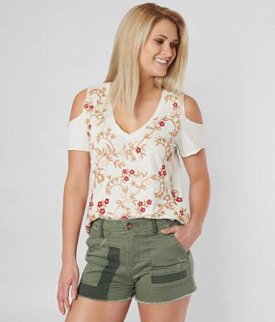 Lucky Brand Floral Embroidered Top