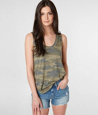 Lucky Brand Burnout Camo Tank Top