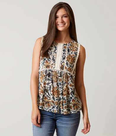 Lucky Brand Botanical Tank Top