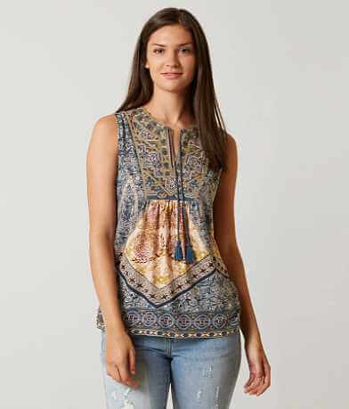 Lucky Brand Printed Tank Top