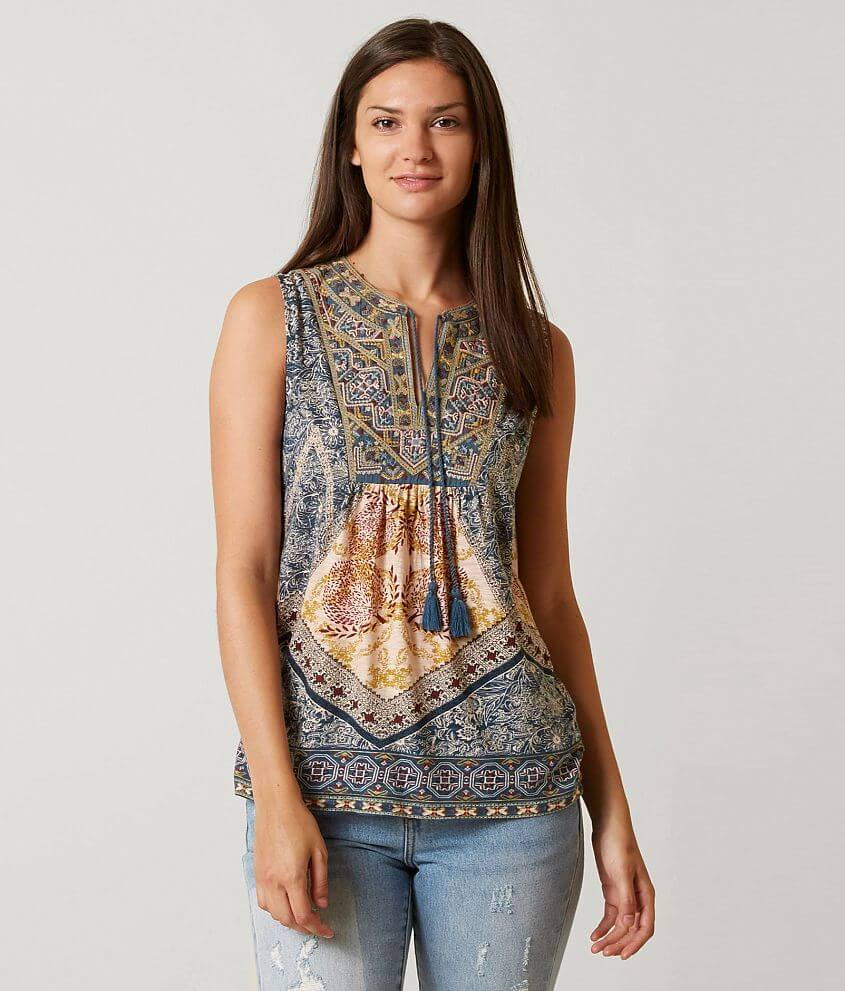7d5ae6a3adbed Lucky Brand Printed Tank Top - Women s Tank Tops in Multi