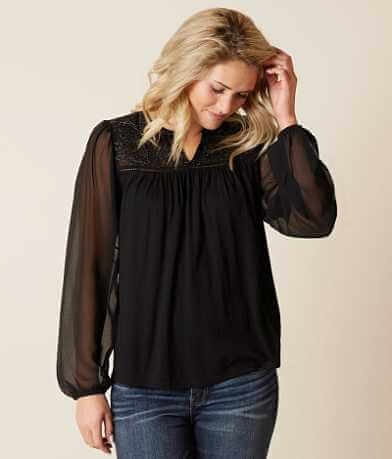 Lucky Brand Metallic Top