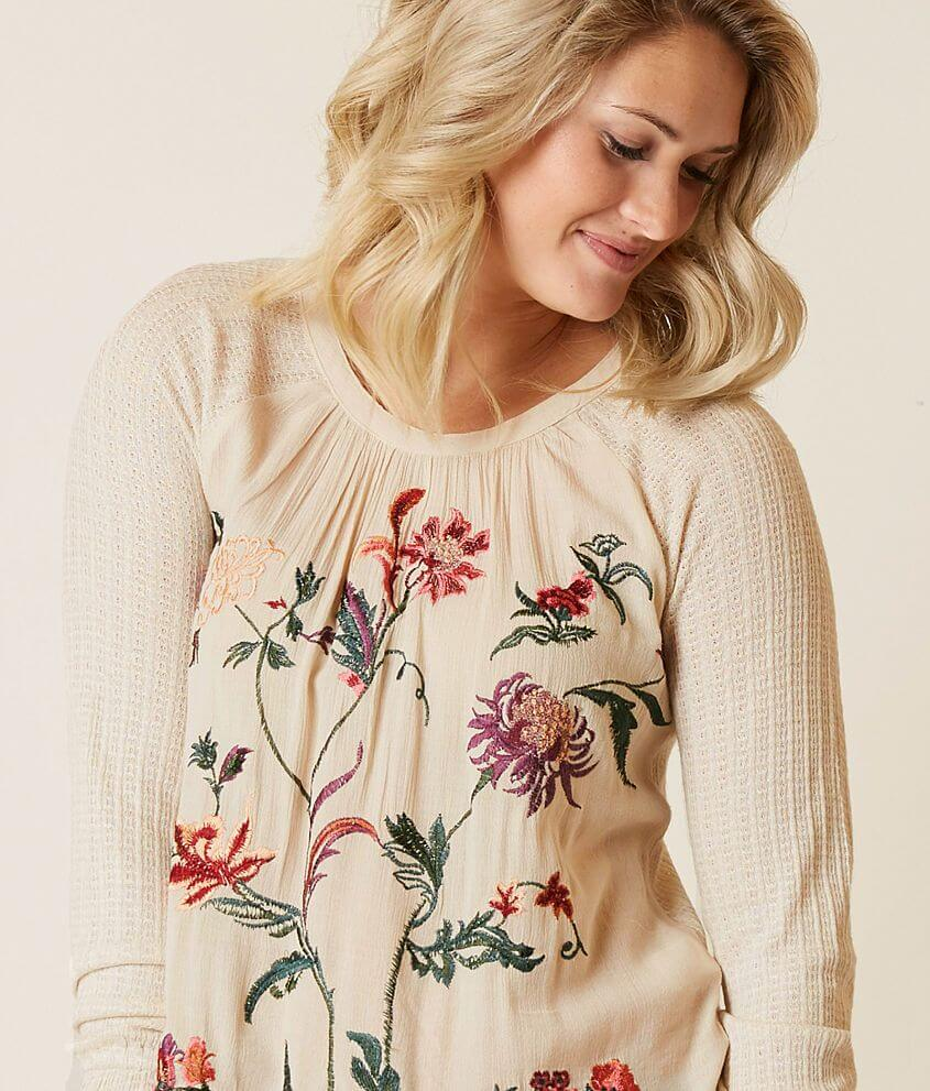 6c0c809ea6d1 Lucky Brand Embroidered Floral Top - Women s Shirts Blouses in ...