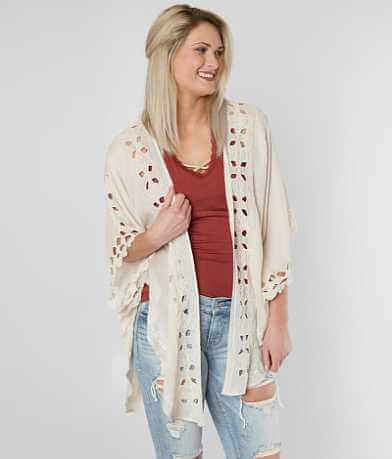 Lucky Brand Embroidered Flyaway Cardigan