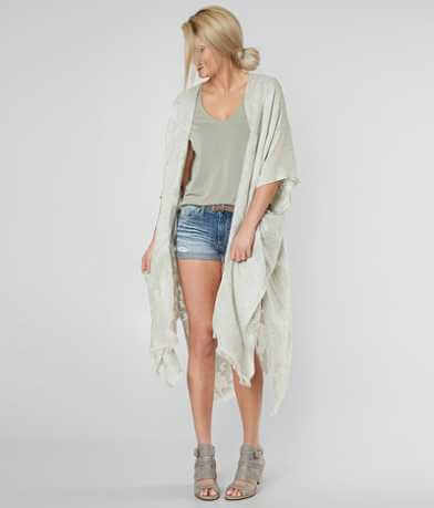 Lucky Brand Floral Jacquard Cardigan
