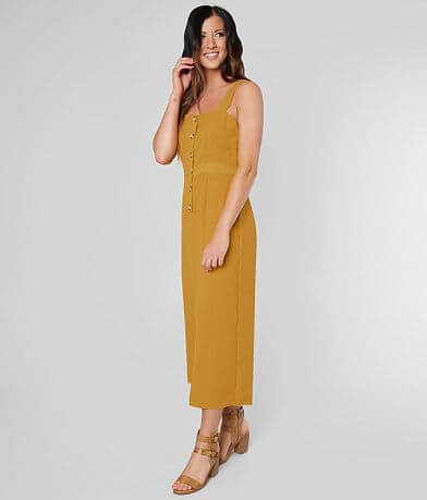 ab2d421569 Daytrip Button Down Cropped Wide Leg Jumpsuit