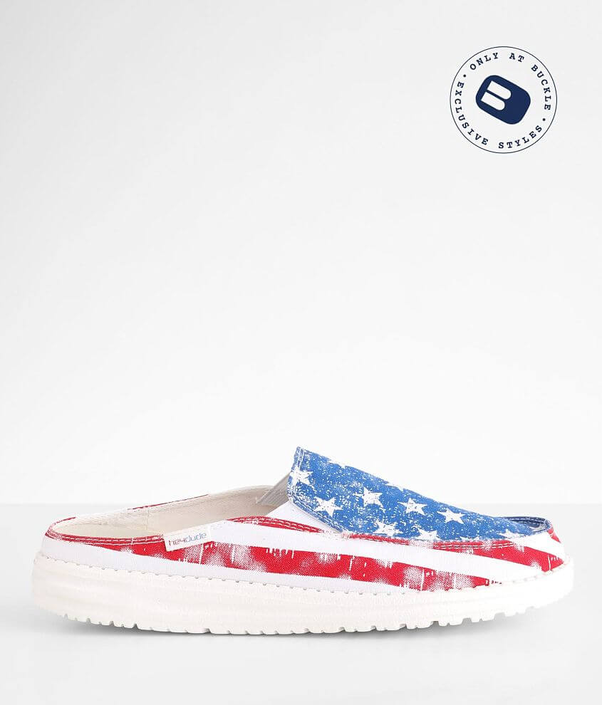 Hey Dude Lexi Star Spangled Mule Shoe front view