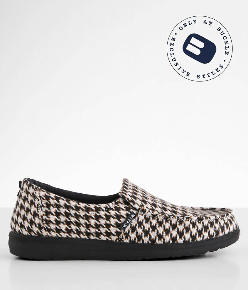 Hey Dude Misty Houndstooth Shoe front view