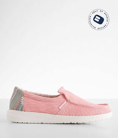 Hey Dude Misty Striped Coral Shoe
