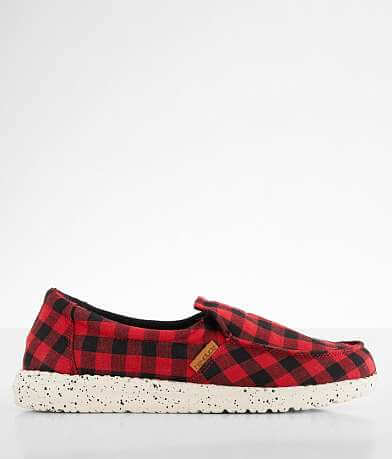 Hey Dude Misty Buffalo Plaid Shoe
