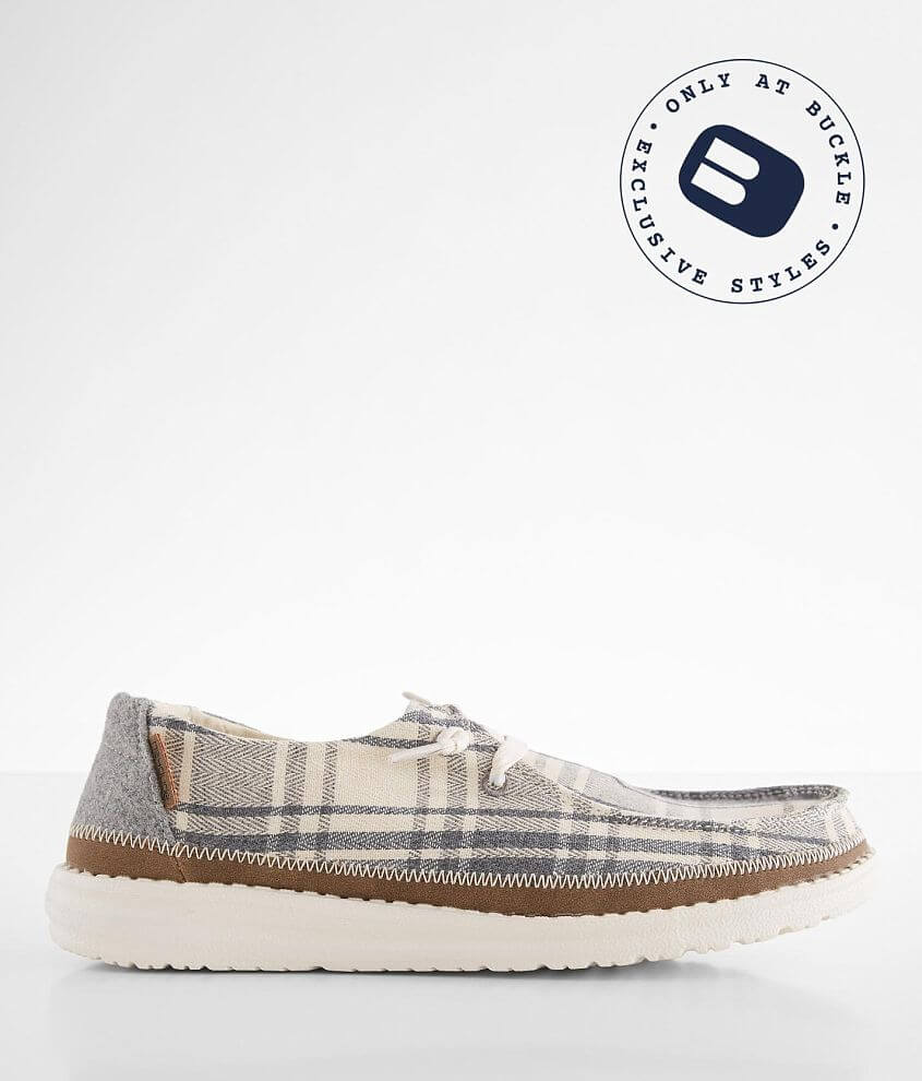 Hey Dude Wendy Plaid Shoe front view