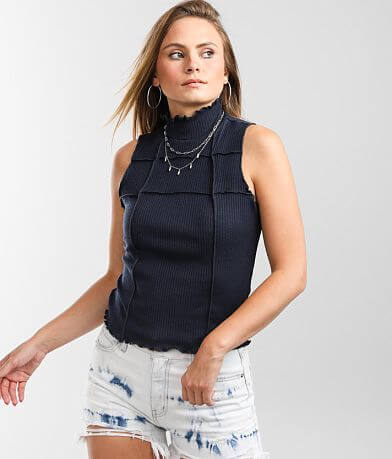 Gilded Intent Exposed Seam Tank Top