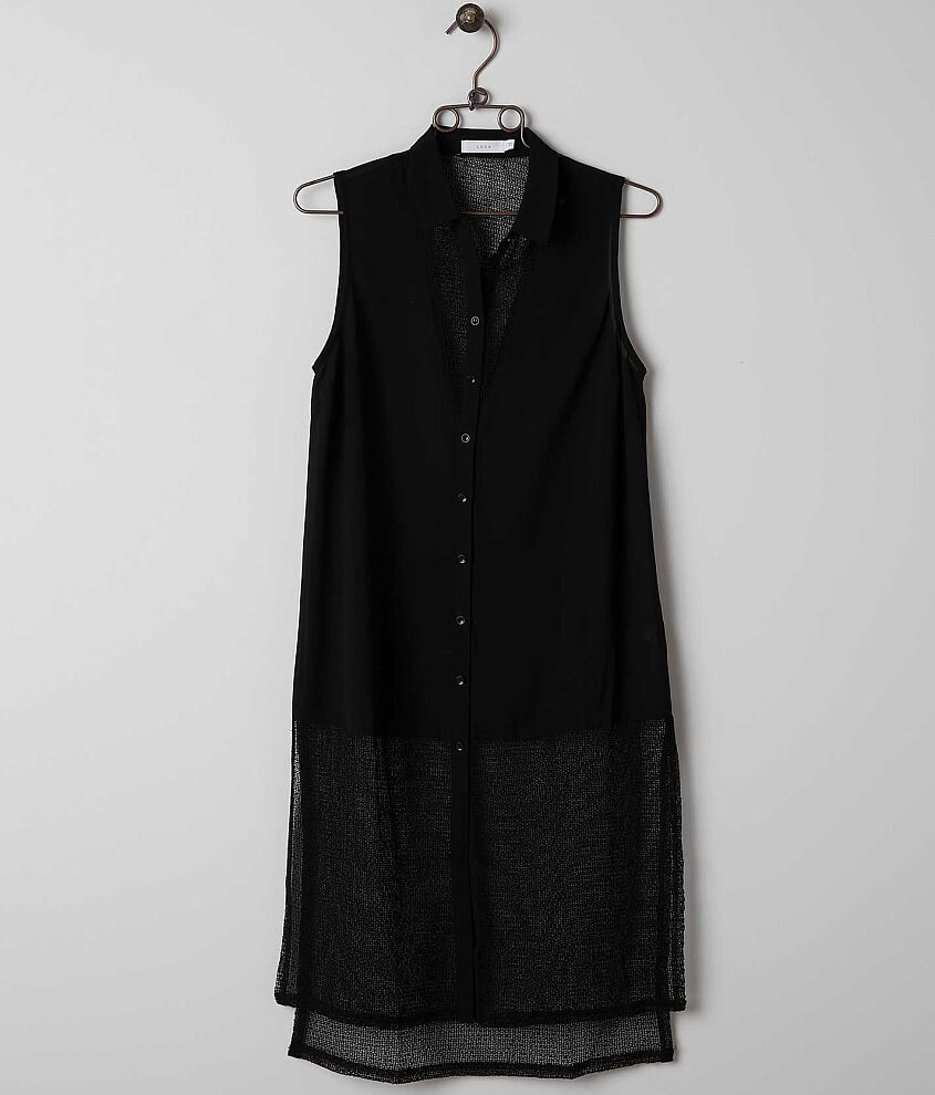 Lush Gauze Tunic Shirt Women S Shirts Blouses In Black Buckle