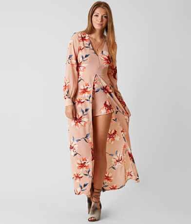 Lush Floral Maxi Romper