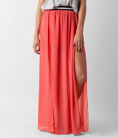 Lush Crinkle Maxi Skirt