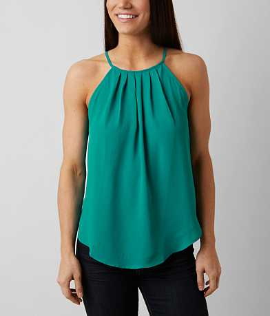 Lush High Neck Tank Top