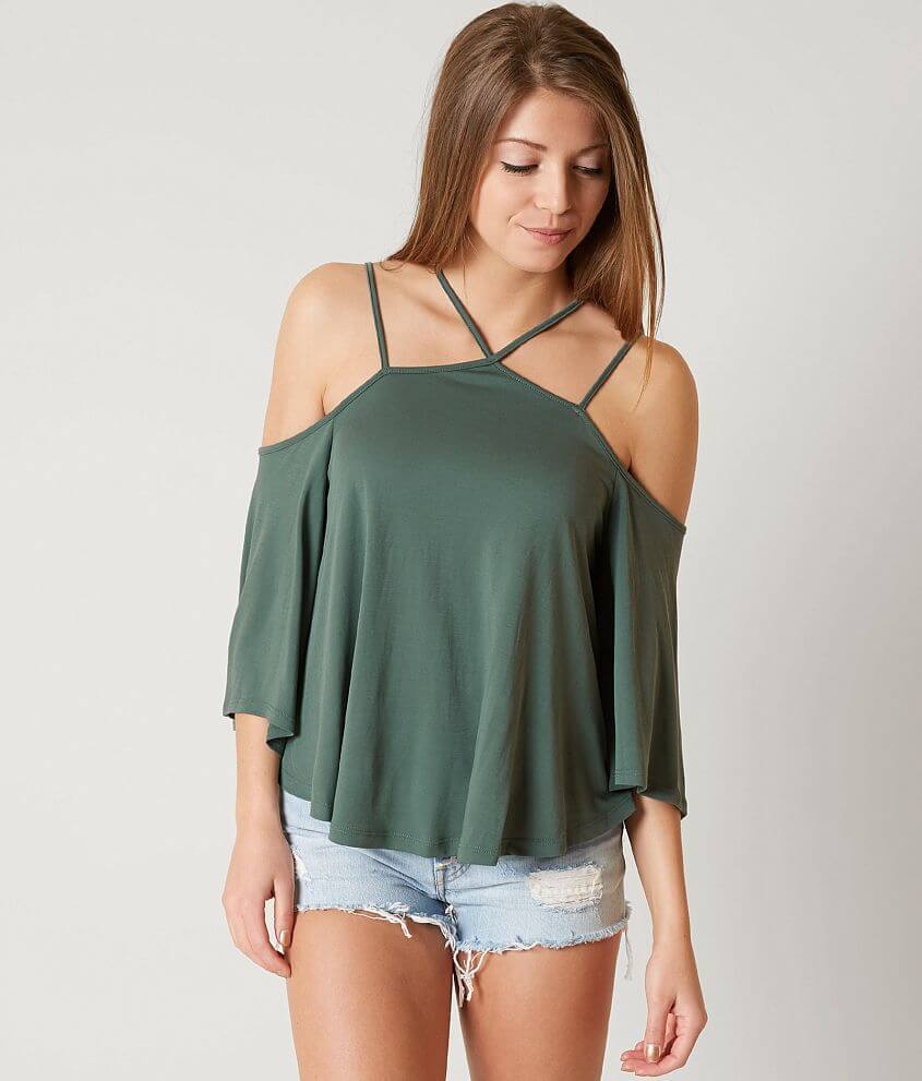 e5dc687634c12 Lush Cold Shoulder Top - Women s Shirts Blouses in Light Taupe